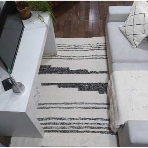 Tapete para sala BEAUTIFUL - Arte Mineira Artesanatos em tear manual