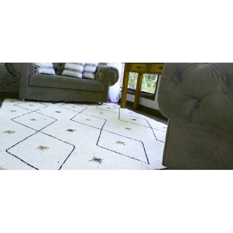 Tapete para sala Sweet Home - Arte Mineira Artesanatos em tear manual