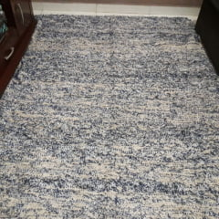 Tapete para sala bright blue 2,00 x 1,50 feito Tear Manual