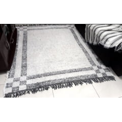 Tapete Marlin Linha de algodão feito em tear manual